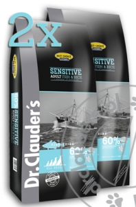 Dr.Clauder's Best Choice SENSITIVE ADULT FISH & RICE - Karma sucha - RYBY & RYŻ - 2x12,5kg