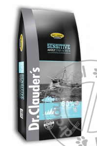 Dr.Clauder's Best Choice SENSITIVE ADULT FISH & RICE - Karma sucha - RYBY & RYŻ - 12,5kg