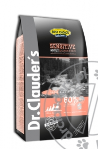 Dr.Clauder's Best Choice SENSITIVE ADULT SALMON & RICE - Karma sucha - ŁOSOŚ & RYŻ - 12,5kg
