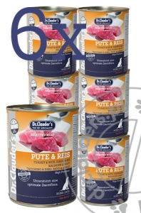 Dr.Clauder's  Selected Meat PUTE & REIS - Karma mokra INDYK & RYŻ - 6x400g