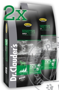 Dr.Clauder's Best Choice SENSITIVE ADULT LAMB & RICE - Karma sucha - JAGNIĘCINA & RYŻ -  2x12,5kg