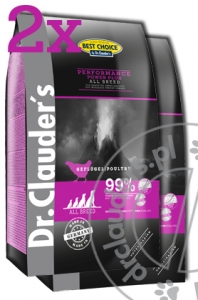Dr.Clauder's Best Choice PERFORMANCE POWER PLUS - Karma sucha dla aktywnych psów - 2x12,5kg